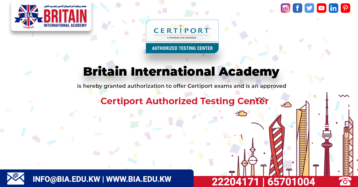 BIA – Certiport Authorized Testing Center
